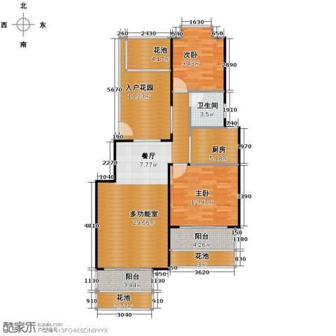 鸿坤・理想海岸2室2厅1卫0厨89.61㎡户型图