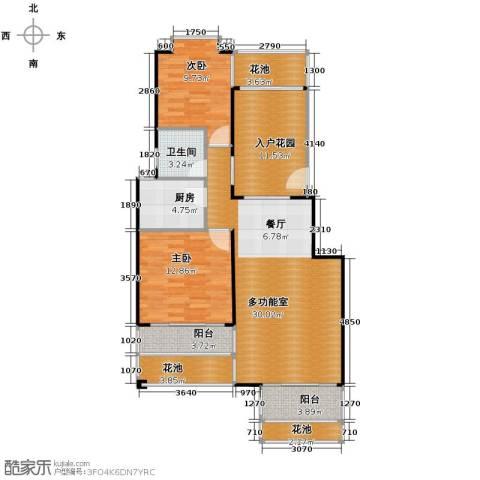 鸿坤・理想海岸2室2厅1卫0厨89.38㎡户型图