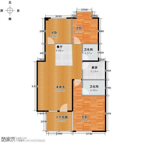 鸿坤・理想海岸3室2厅2卫0厨120.00㎡户型图