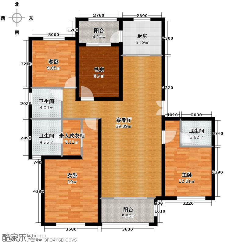 融侨观邸159.00㎡C依云居户型4室2厅2卫