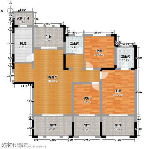 阳光帝景3室2厅2卫0厨134.00㎡户型图
