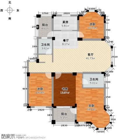 水岸新都花苑3室1厅2卫1厨141.00㎡户型图