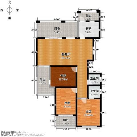 天徽商业广场3室1厅2卫1厨193.00㎡户型图