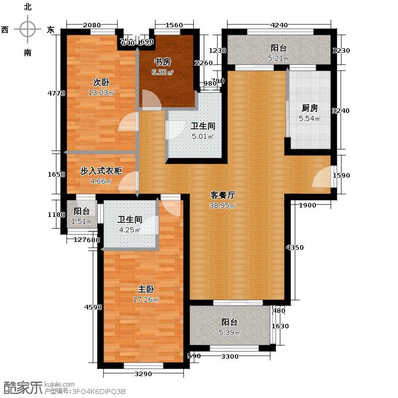 融侨观邸141.00㎡枫丹居户型3室2厅2卫