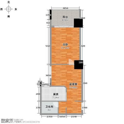 太阳岛公寓63.64㎡户型图