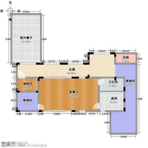 龙泉谷・三亚的山5室4厅8卫0厨132.37㎡户型图
