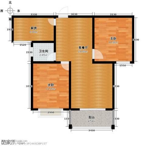 江南鸿郡2室2厅1卫0厨89.00㎡户型图