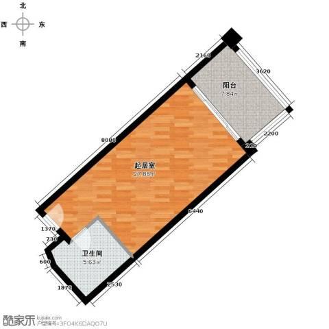 国光滨海花园58.00㎡户型图