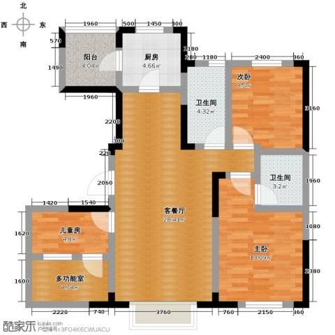 益田枫露2室2厅1卫0厨88.94㎡户型图