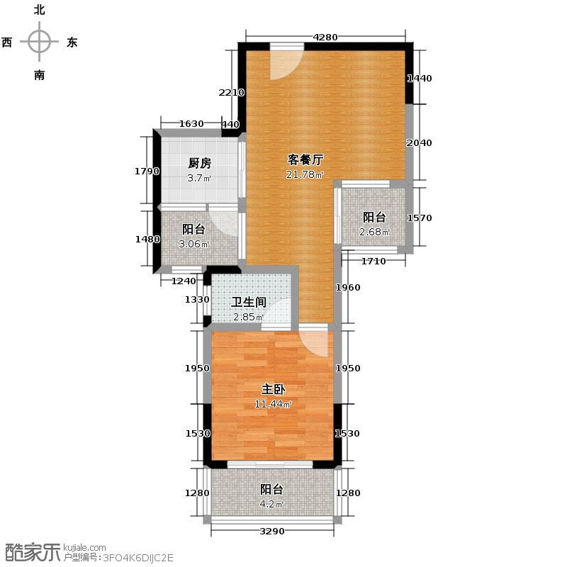 航天云海台57.41㎡户型10室