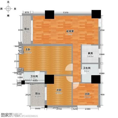 太阳岛公寓124.00㎡户型图