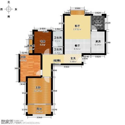 融侨观邸3室1厅1卫0厨97.00㎡户型图