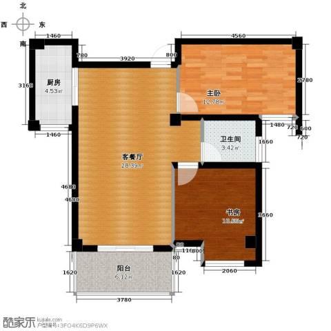 明发城市广场2室2厅1卫0厨84.00㎡户型图