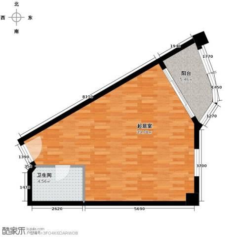 国光滨海花园69.00㎡户型图
