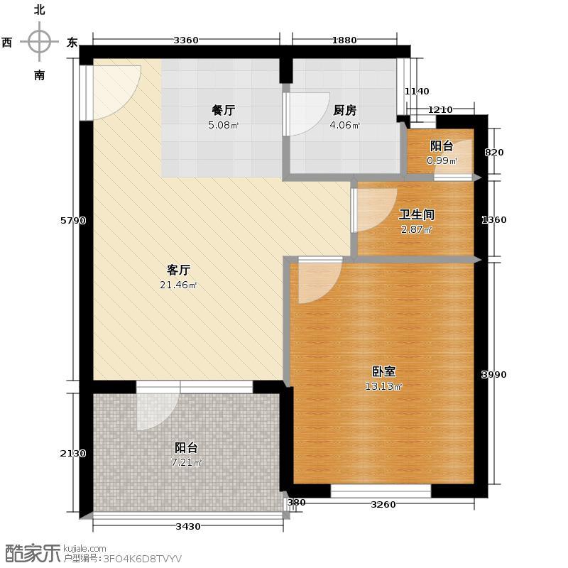清平乐59.40㎡二期B2户型10室