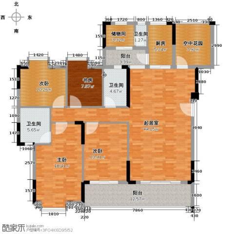 新境誉花园5室2厅3卫0厨138.22㎡户型图