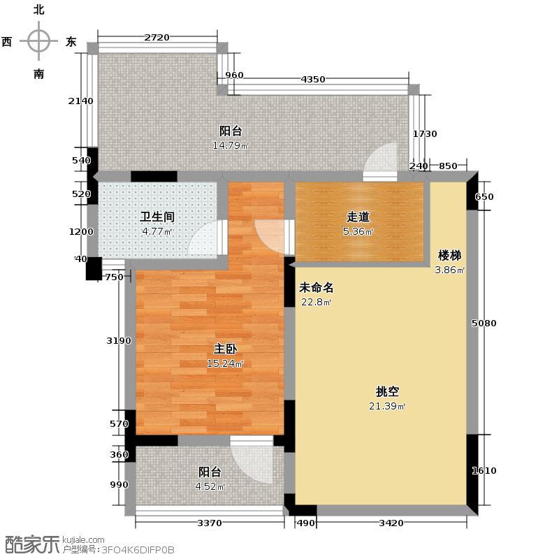 山水云房77.79㎡户型10室