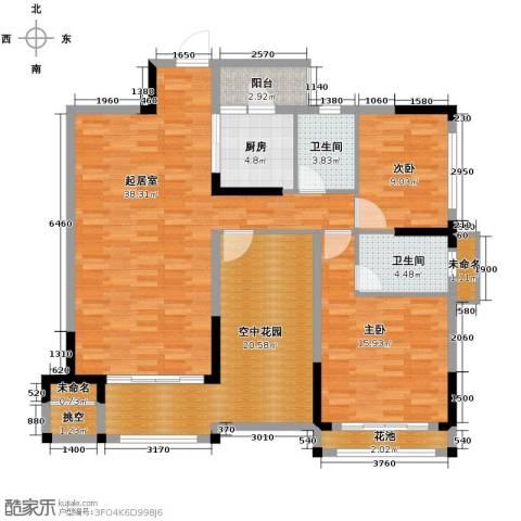 保利百合花园2室0厅2卫1厨150.00㎡户型图