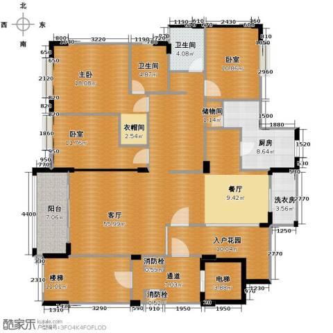 凯旋城1室1厅2卫1厨162.00㎡户型图