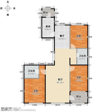 郁金台3室2厅2卫0厨150.00㎡户型图