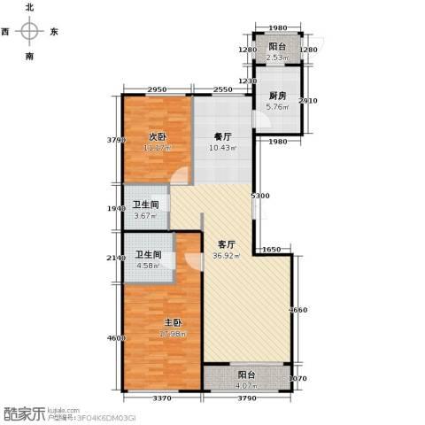 郁金台2室2厅1卫0厨117.00㎡户型图