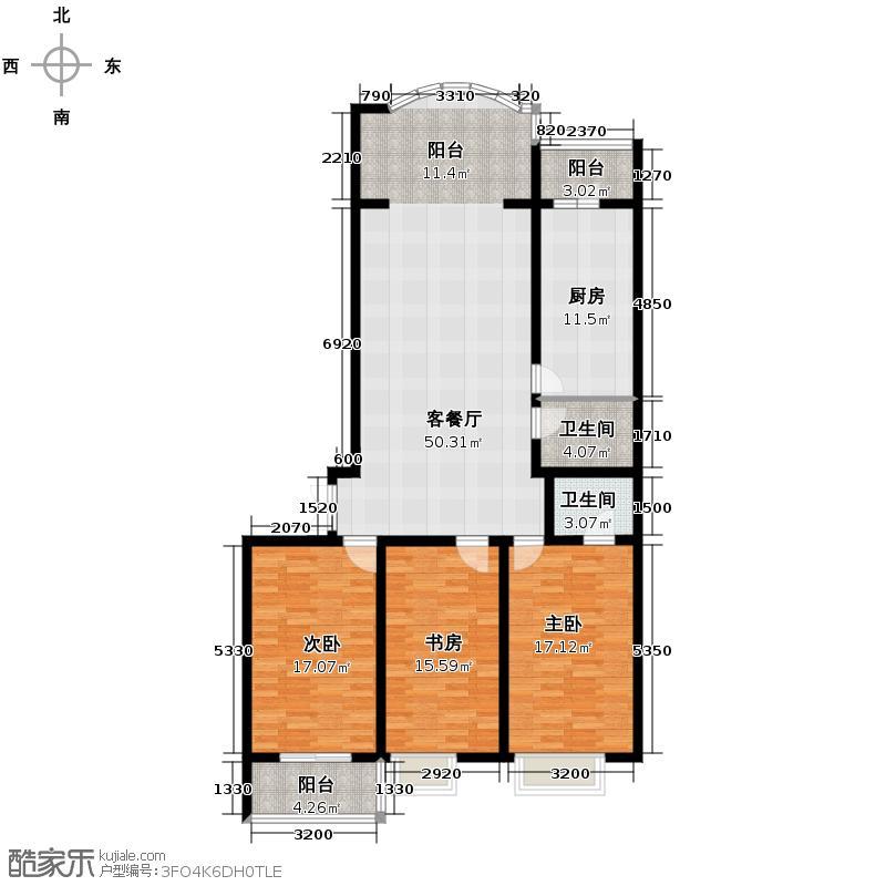 观江首府142.09㎡户型10室