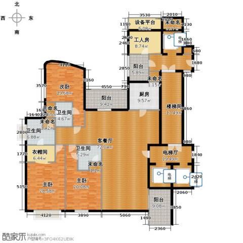 东方润园3室1厅3卫1厨263.68㎡户型图