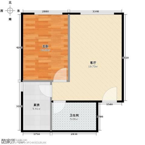 郁金台1室1厅1卫0厨42.27㎡户型图