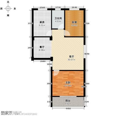 伯爵山庄1室1厅1卫1厨90.00㎡户型图