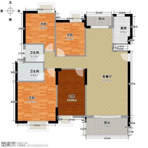 康怡花园4室1厅2卫1厨140.00㎡户型图