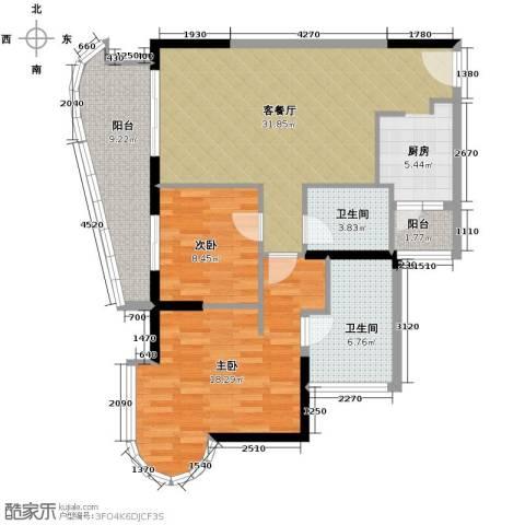 碧海蓝天三期2室2厅2卫0厨104.00㎡户型图