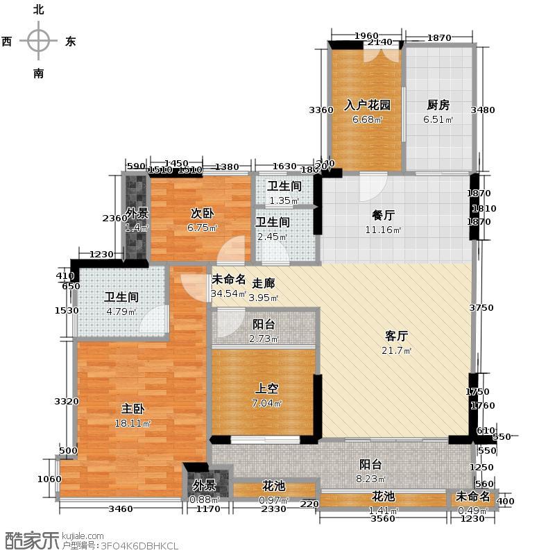 佳兆业可园97.00㎡7座【臻境】N户型3室2厅1卫