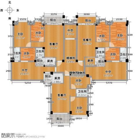 西堤国际花园8室3厅5卫3厨289.00㎡户型图