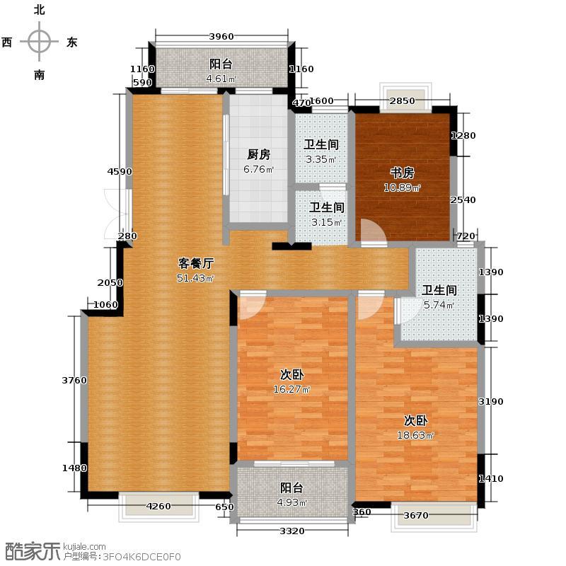 国信来凤街1号145.00㎡D3户型10室