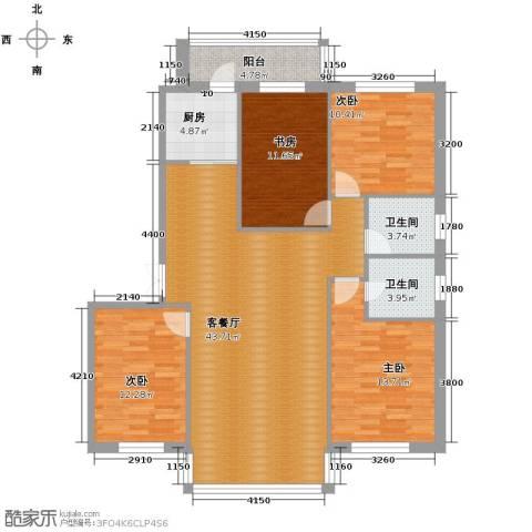 中北春城4室1厅2卫1厨152.00㎡户型图