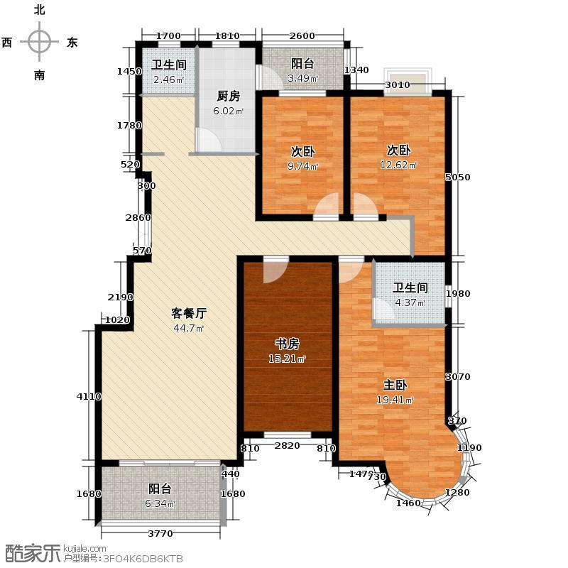 江畔明珠广场153.86㎡F1户型10室