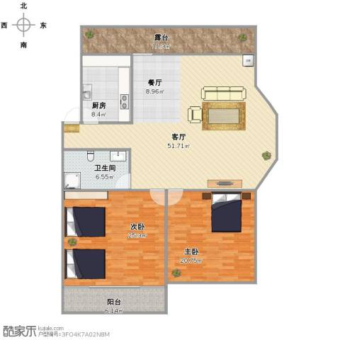 泉印兰亭2室1厅1卫1厨172.00㎡户型图