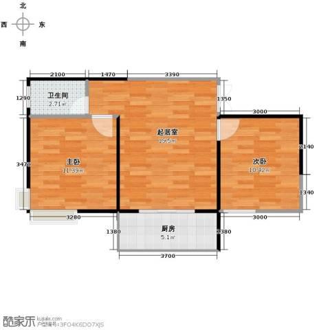 青春水岸2室2厅1卫0厨66.00㎡户型图