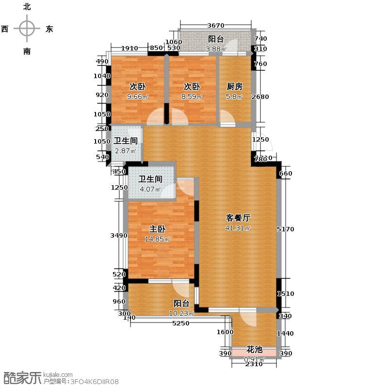 山水云房115.79㎡户型10室
