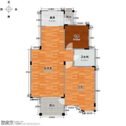 水岸新都花苑2室0厅1卫0厨87.00㎡户型图