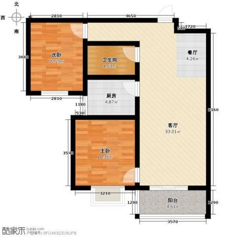 旭东花园2室2厅1卫0厨92.00㎡户型图