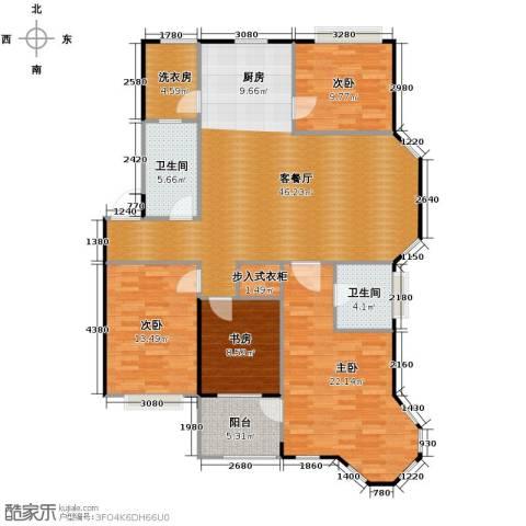 水岸新都花苑4室1厅2卫0厨121.30㎡户型图