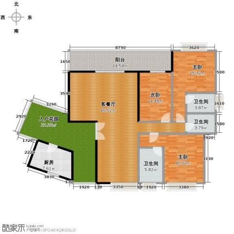 南城都汇御天下3室1厅3卫1厨147.49㎡户型图