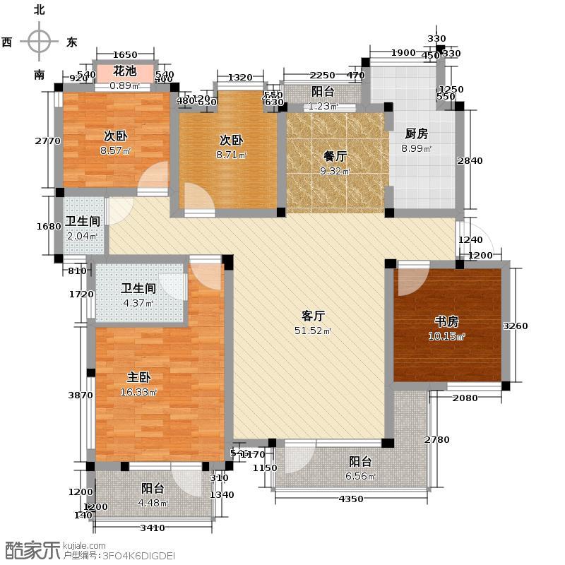 山水云房131.93㎡户型10室