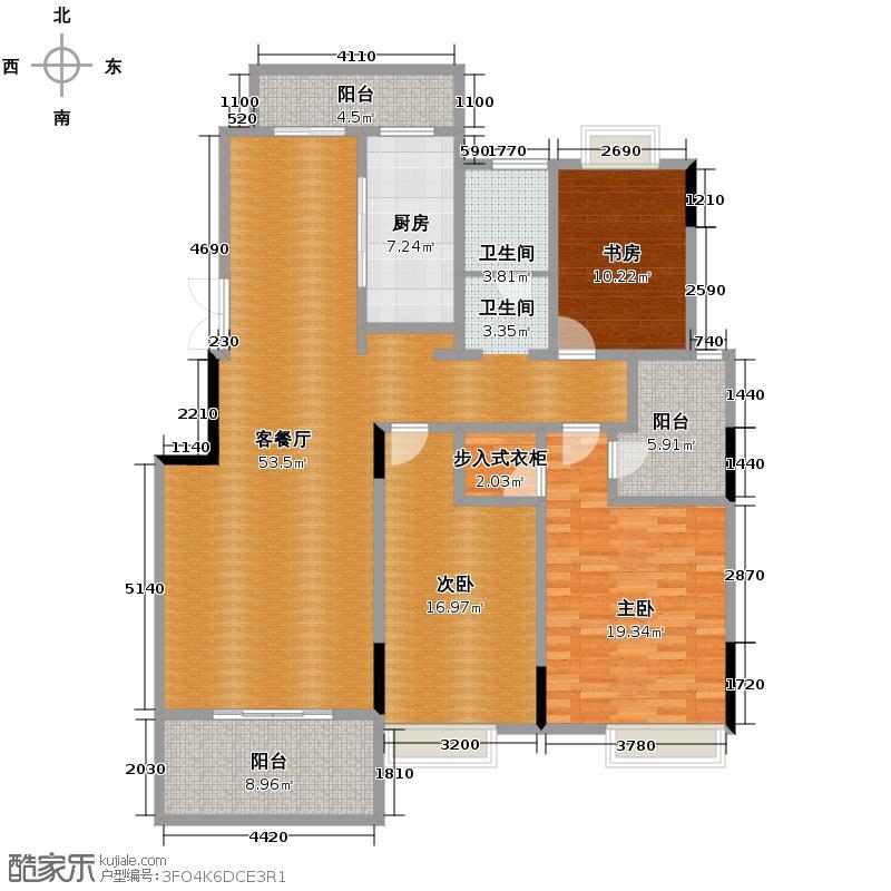 国信来凤街1号150.00㎡D2户型10室