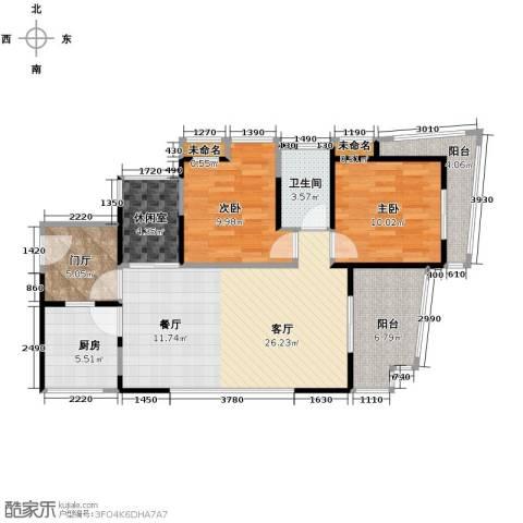 25度阳光2室2厅1卫0厨96.00㎡户型图