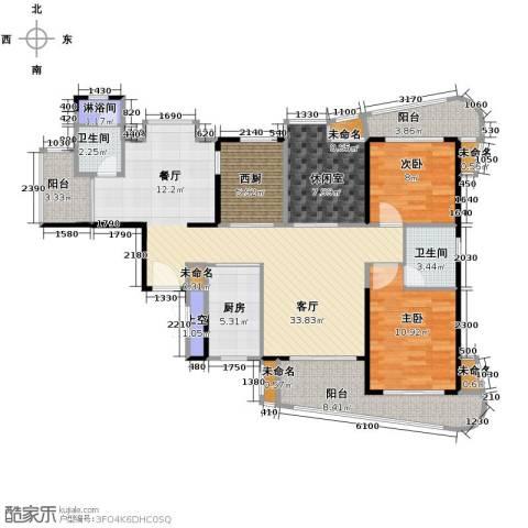 25度阳光3室2厅1卫0厨130.00㎡户型图