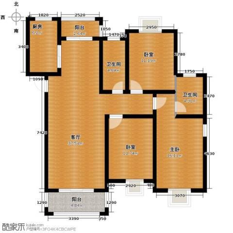 恒盛泰晤士印象1室1厅2卫1厨129.00㎡户型图
