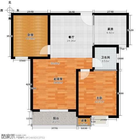 珠峰国际花园三期1室0厅1卫1厨96.00㎡户型图