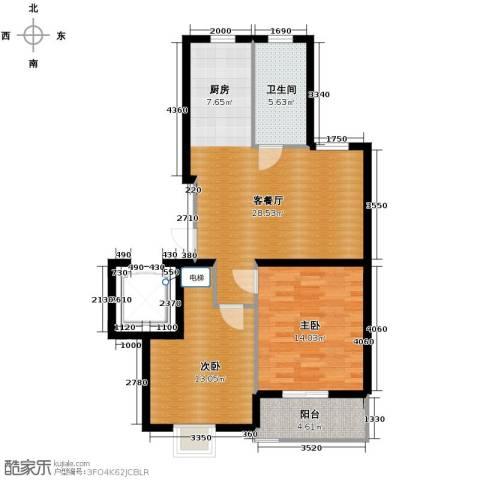 金海・香滨湾2室1厅1卫0厨90.00㎡户型图